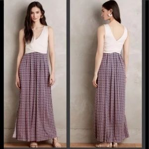 Maeve Anthropologie Maxi Dress M V Neck Wrap